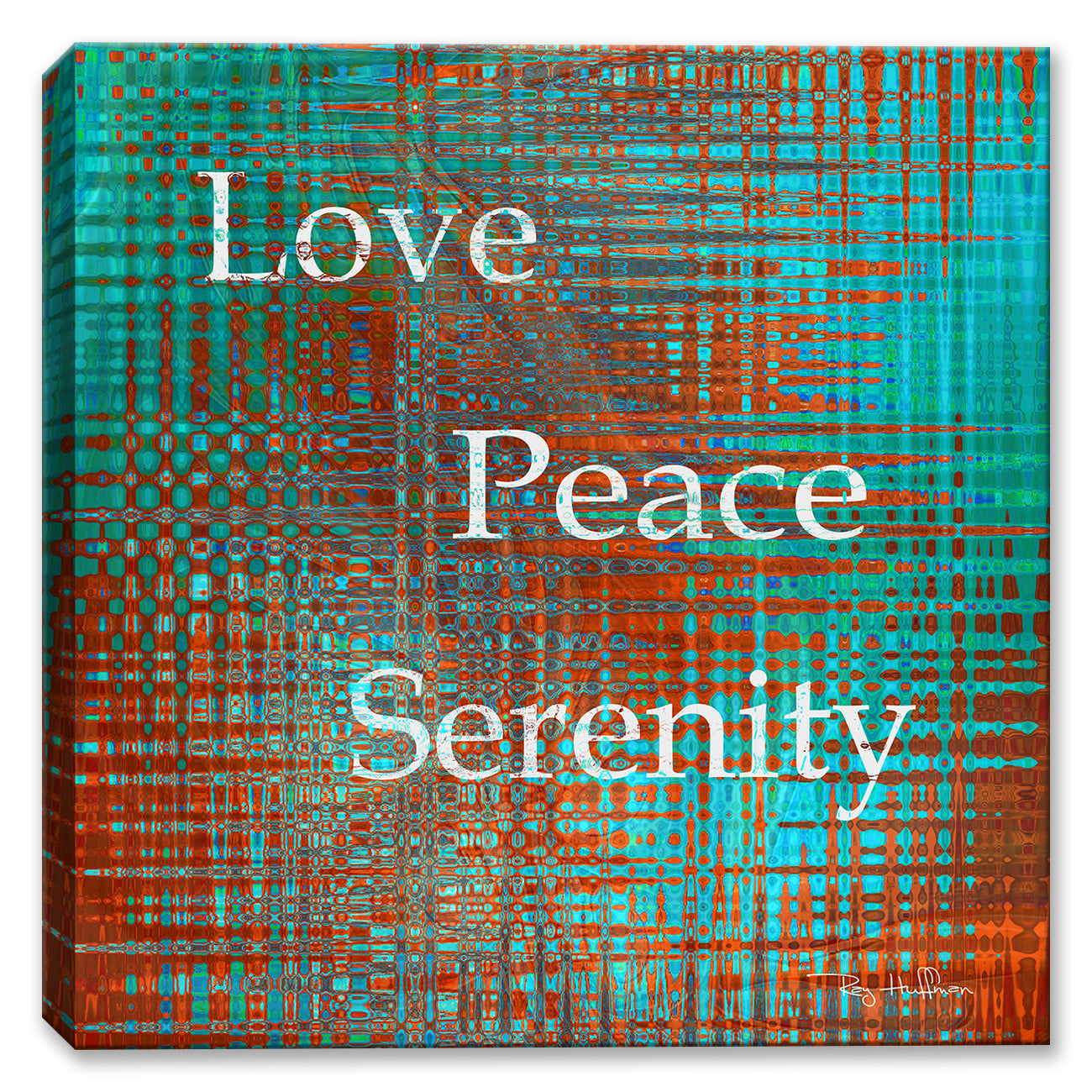 Love Peace Serenity - Canvas Art - Inspirational Art