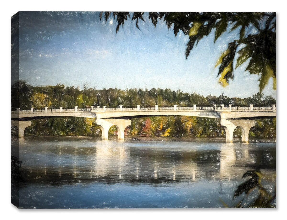 The Bridge Canvas Art Painting - Canvas Art Plus
