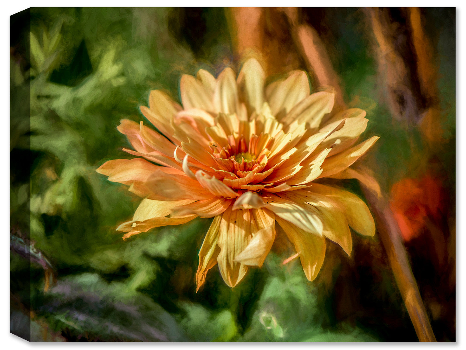 Garden Bloom  - Ink on Fine Art Canvas - Canvas Art Plus