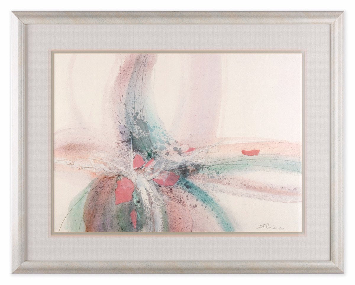 Aloa I  by Eva Macie - Original Mixed Media Watercolor - Framed Art