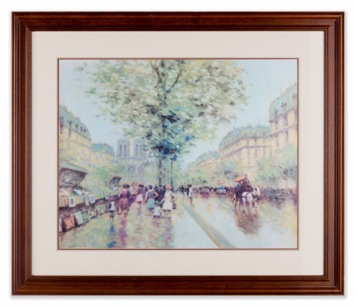 Bouqinistes Paris - by Andre Gisson - Framed Art - Framed Art