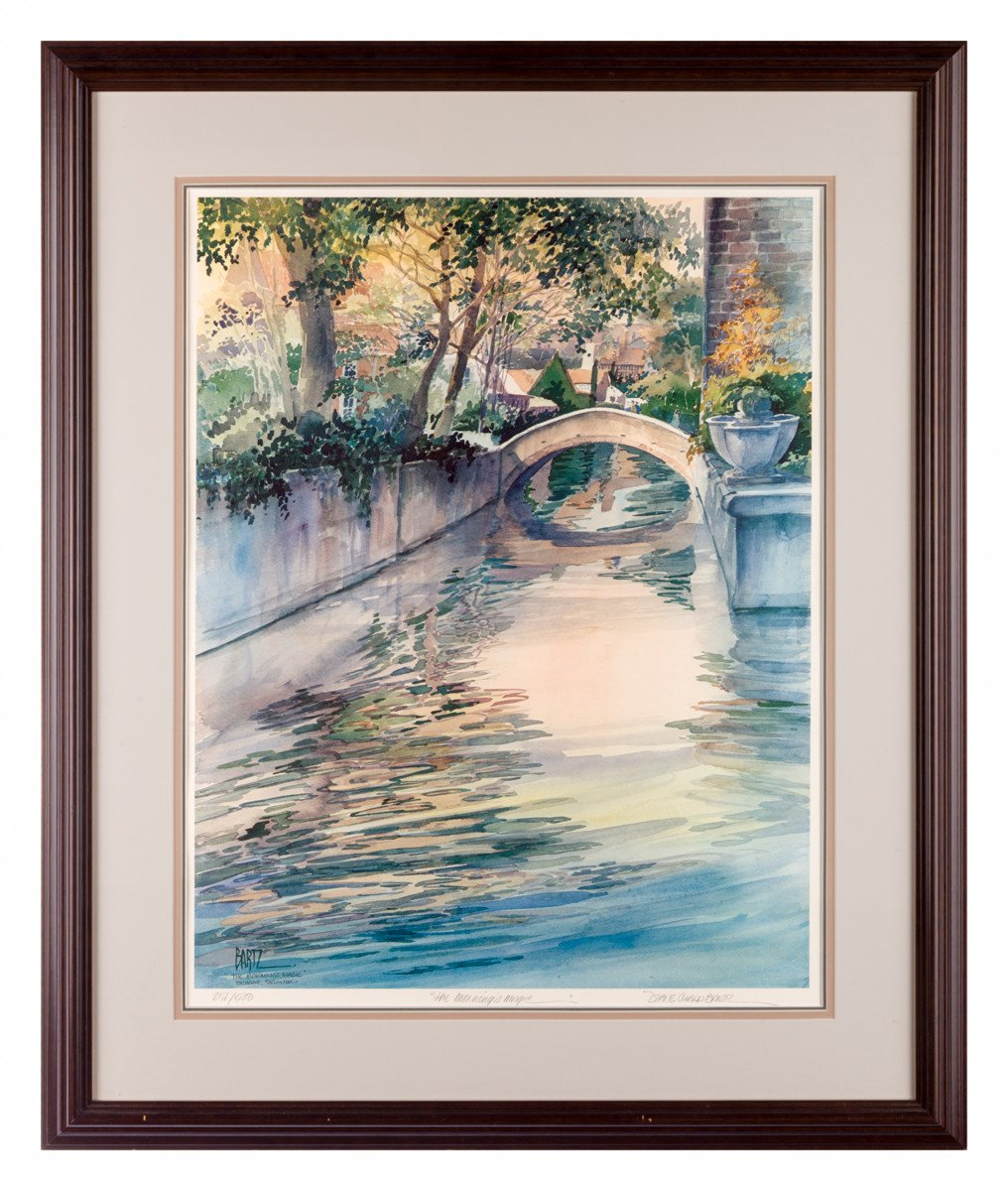Morning's Magic - by Diane Clapp Bartz (Signed Lithograph) - Framed Art