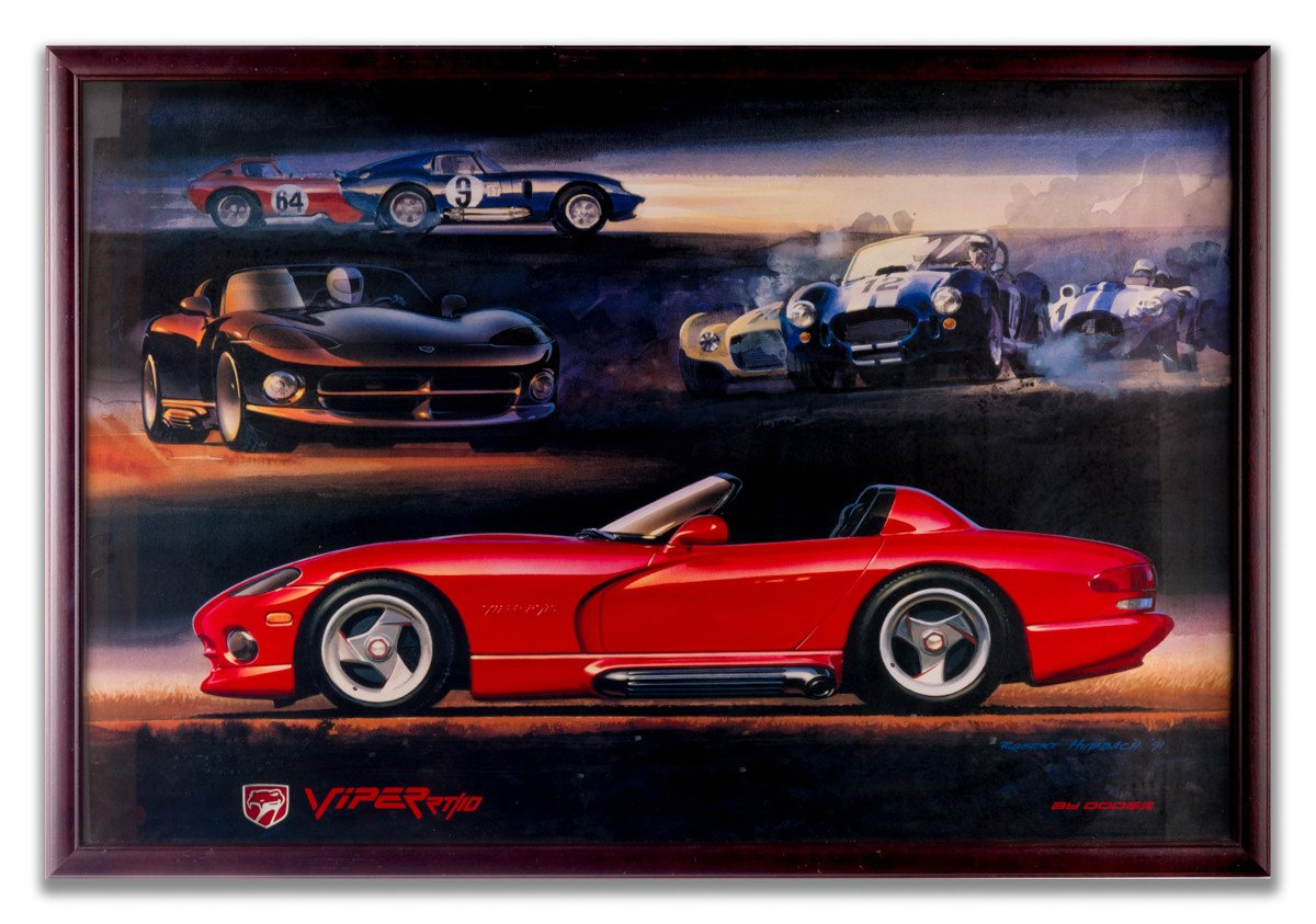 Viper RT/10 - Framed Sports Car Poster - Framed Art