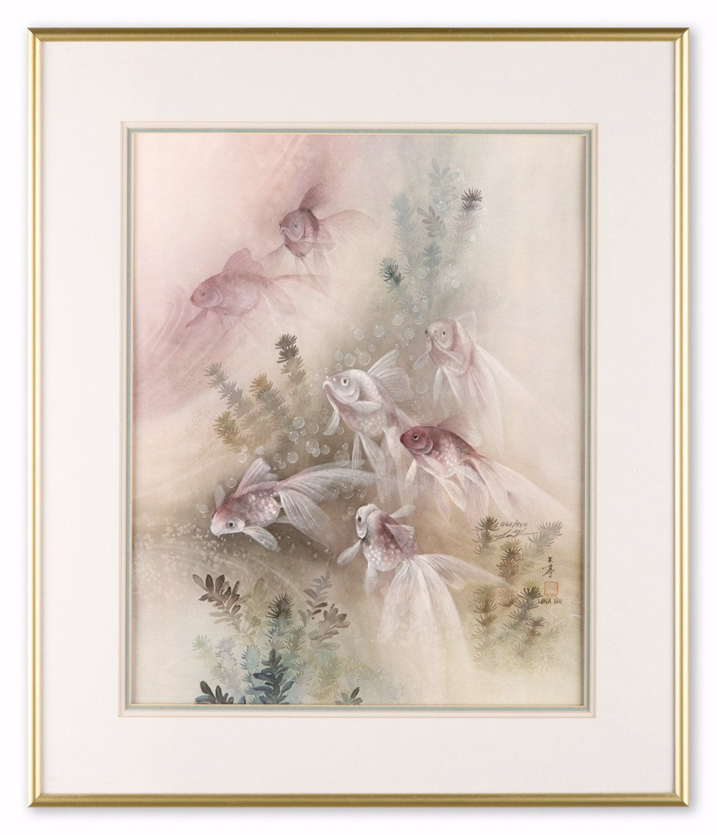 The Fish - by Lena Liu - Lithograph - Framed Art