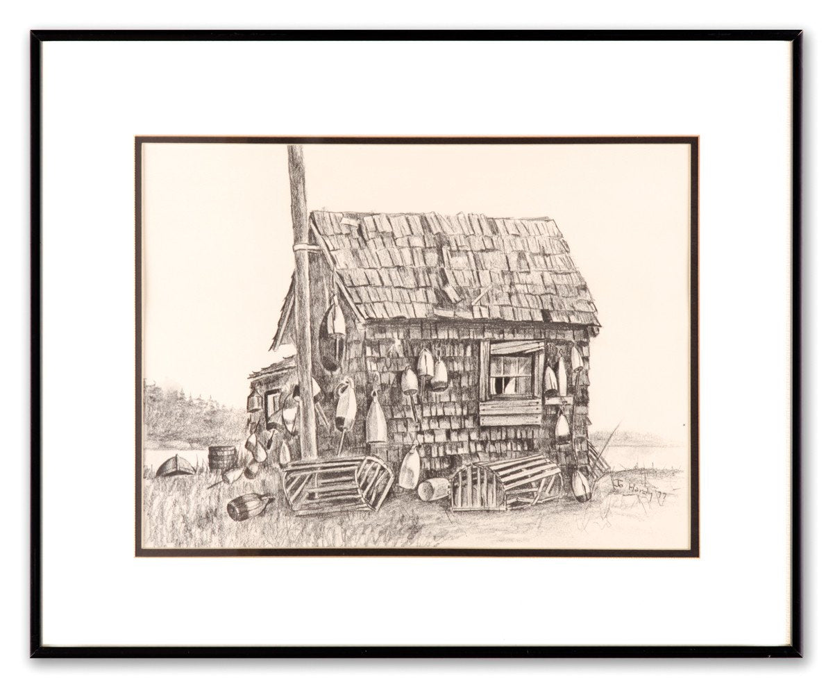 The Lobster Shack - Original Hand Sketched Print - Framed Art