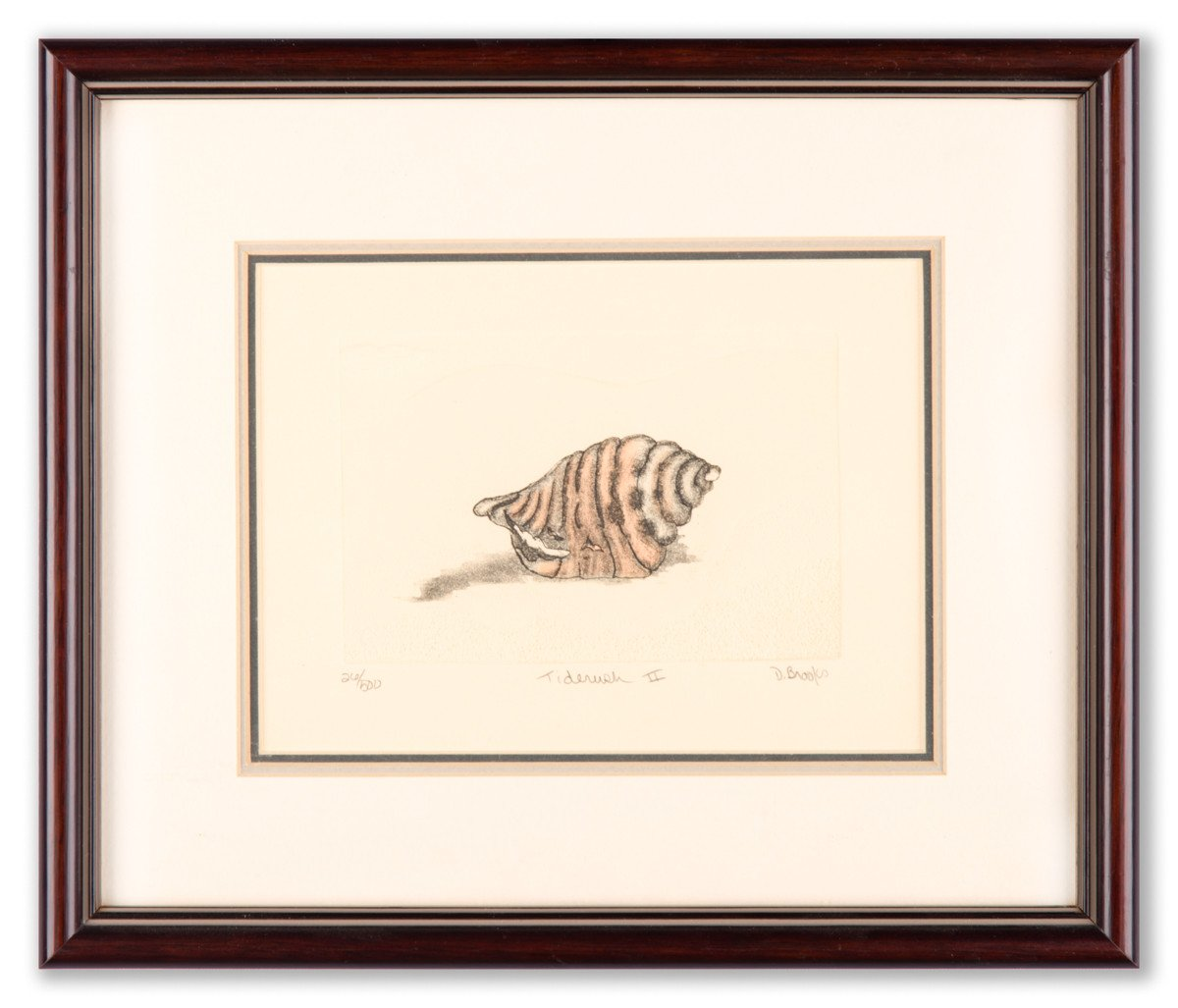 Tinderush II = Hand-colored Etching by Debbie Brooks - Framed Art