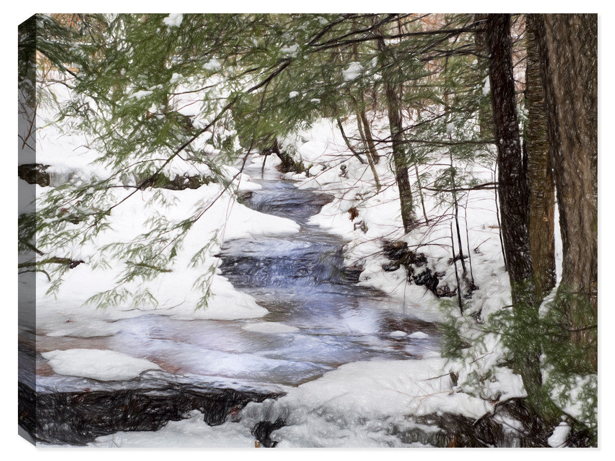 Hocking Hills - Winter Wonderland - Canvas Art Print - Canvas Art Plus