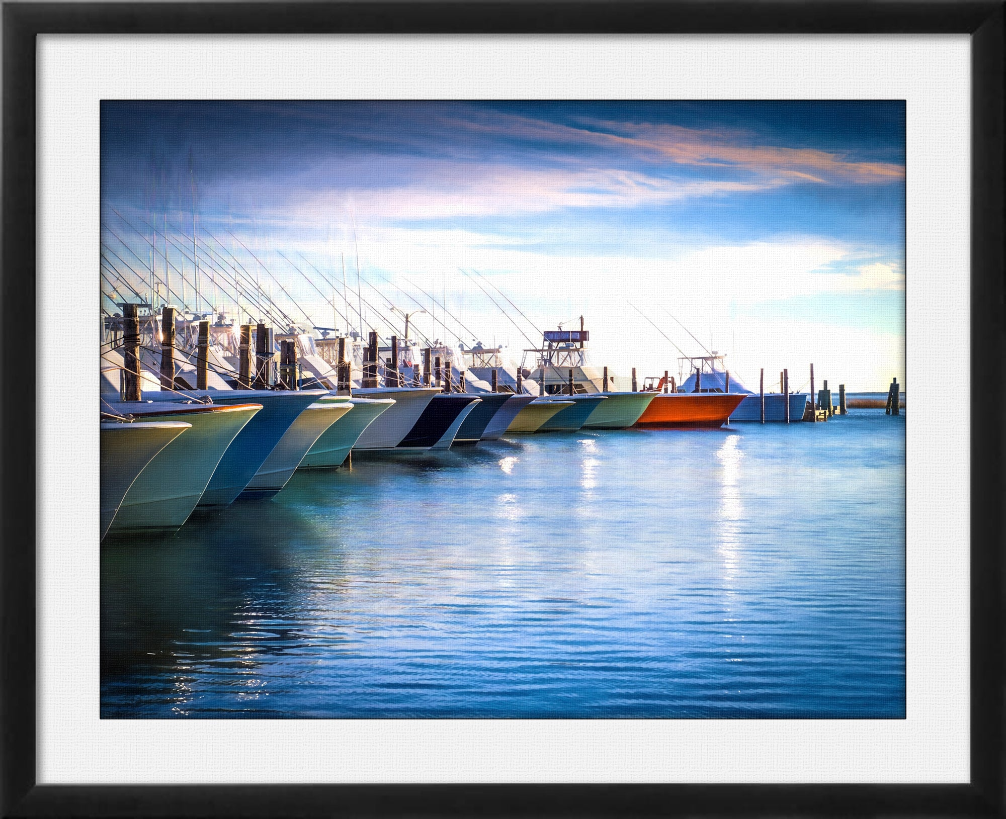 Fishing on the Atlantic - Framed Art