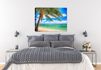 Caribbean Ocean View from Beach - Fine Art Painting