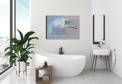 If you want to Fly - Inspirational Canvas Art