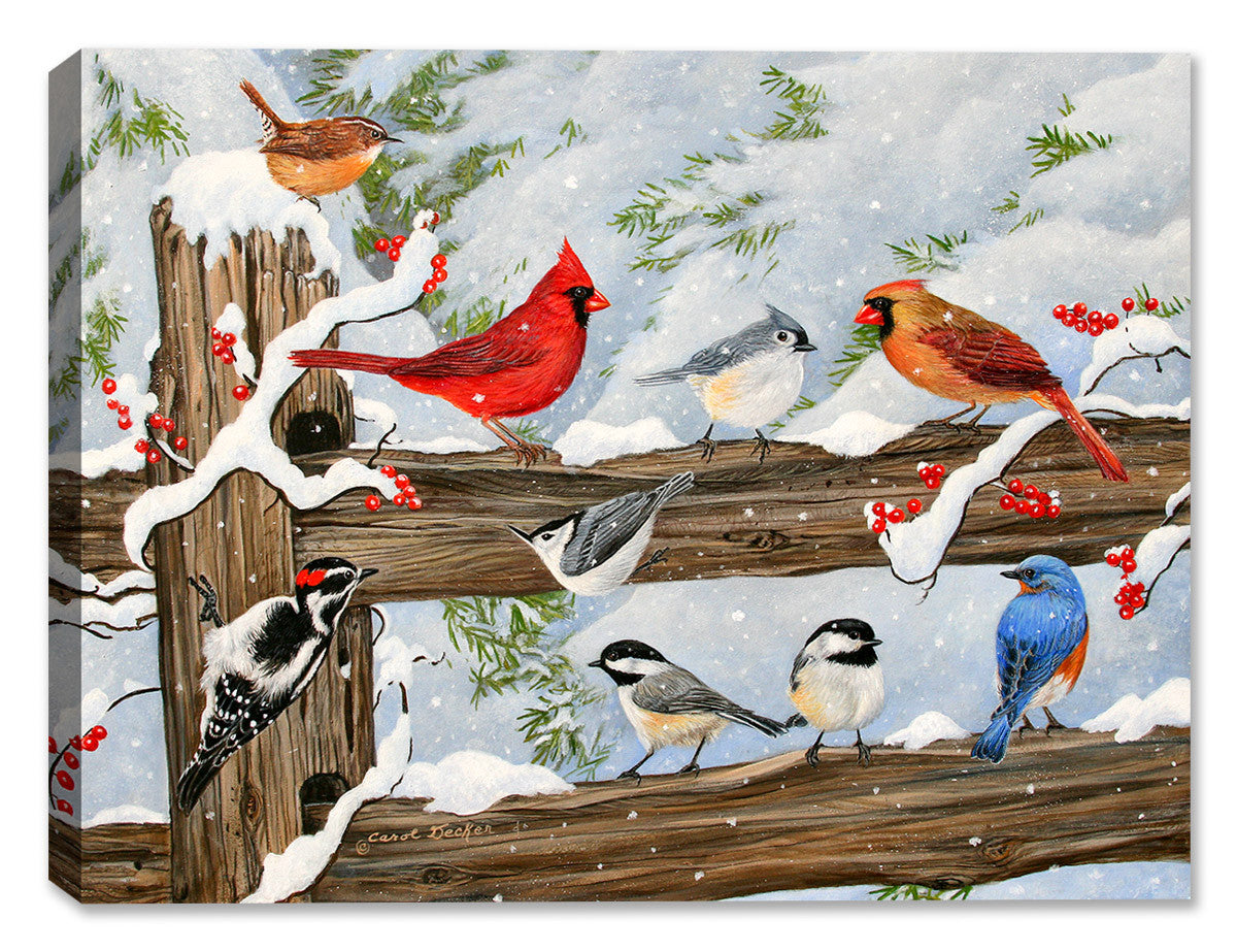 Songbird Convention - Painting by Carol Decker - Canvas Art Plus