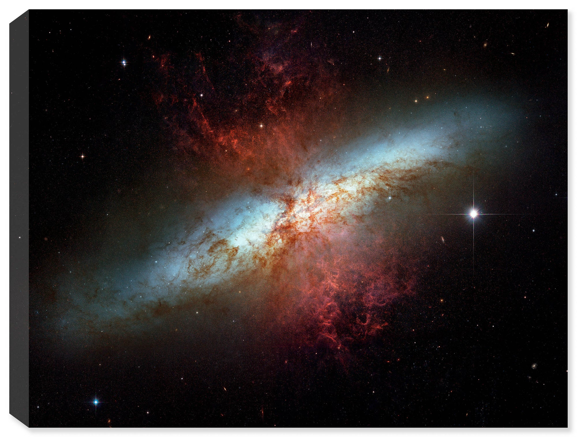 Satrburst Galaxy Space Photo on Canvas