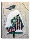 Stars and Stripes Bird House with Bird - Canvas Art Plus