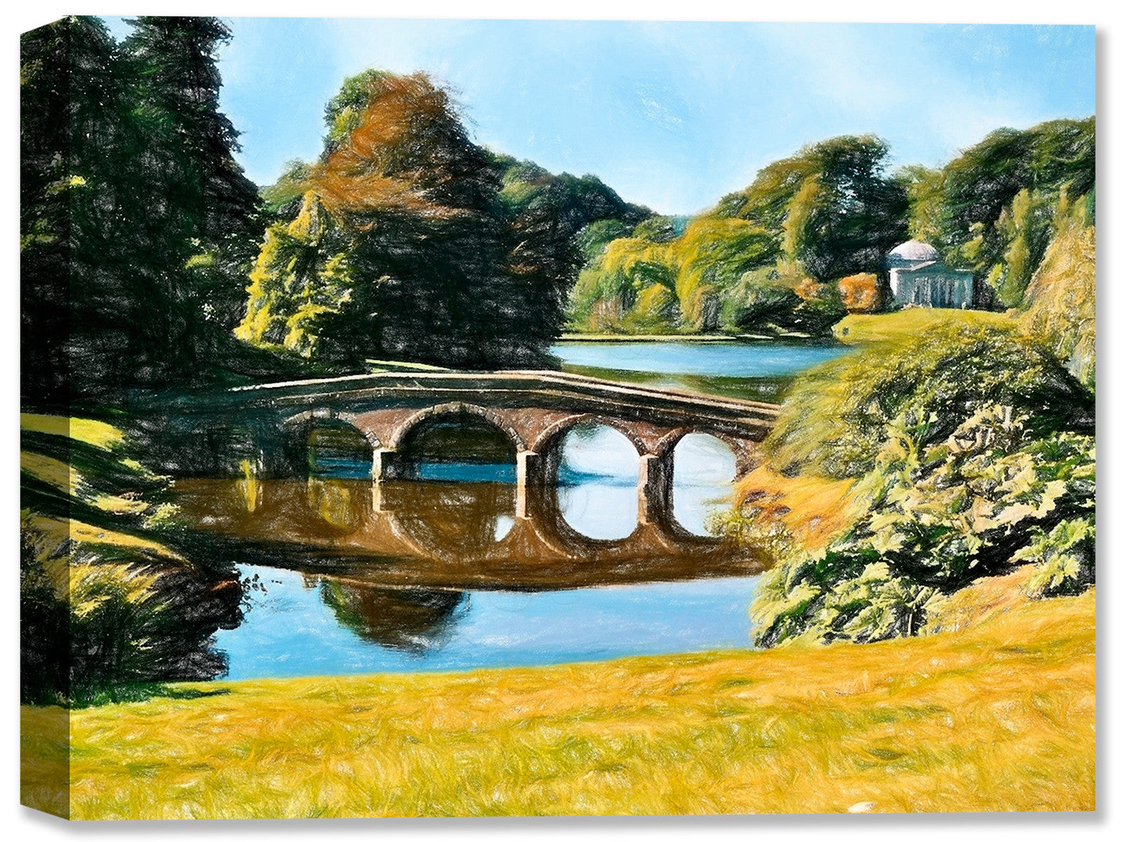 Stourhead Garden in England - Fine Art Canvas Print - Canvas Art Plus