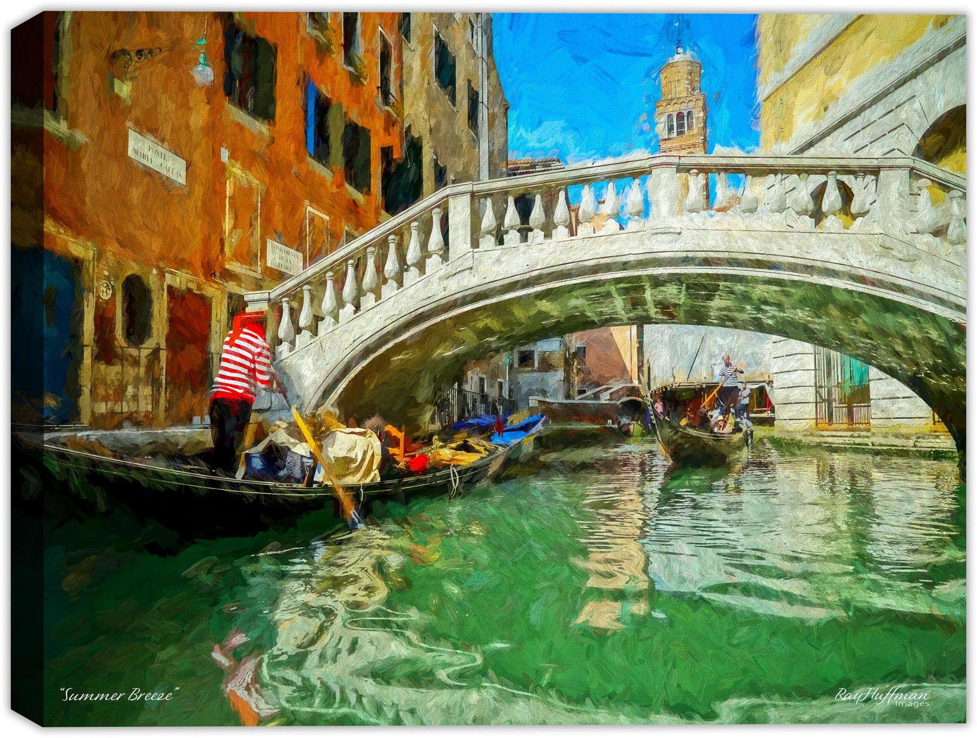 Summer Breeze in Venice - Painted on Canvas