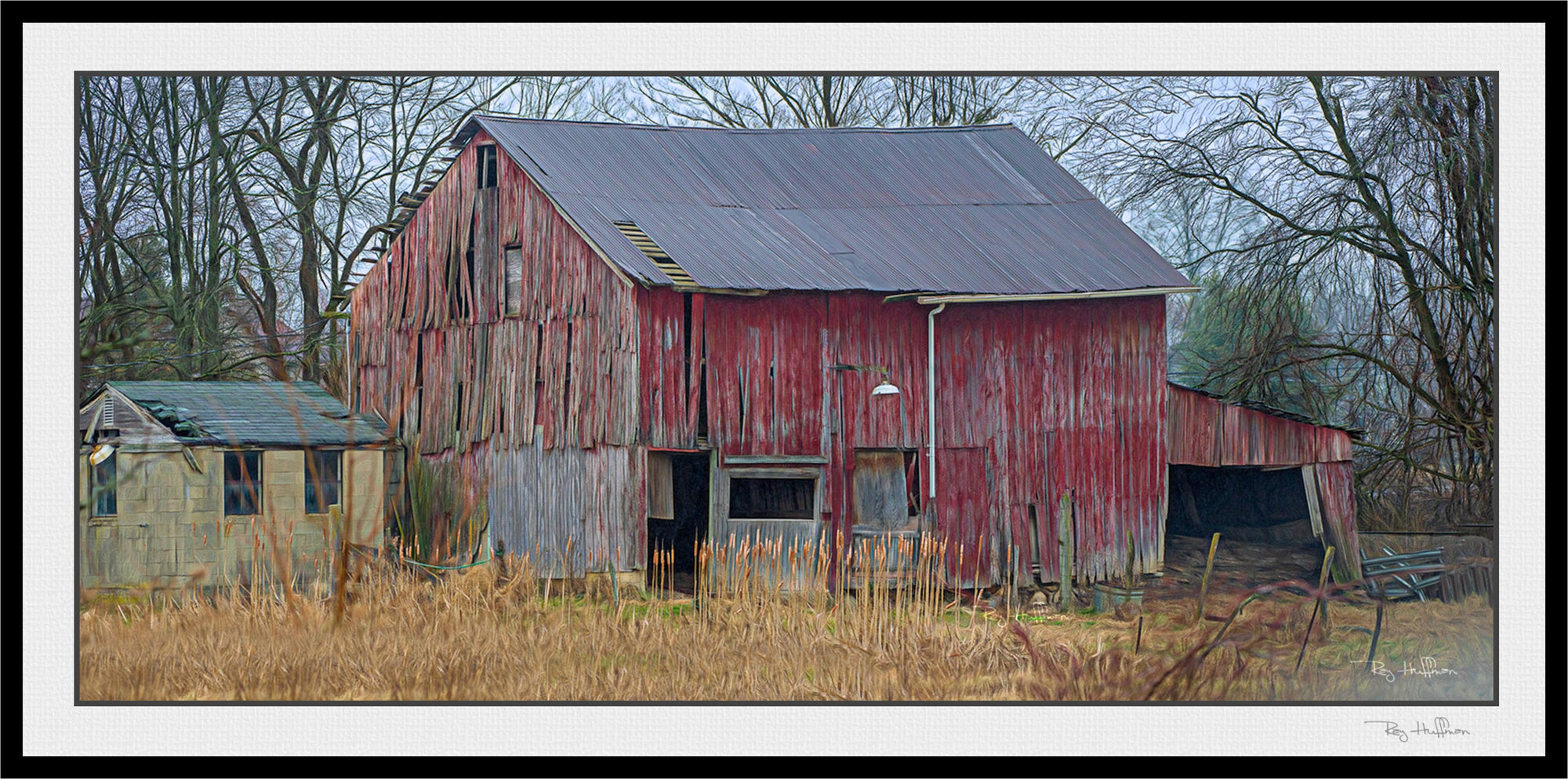 Abandoned Barn  - Digital Painting Giclee'