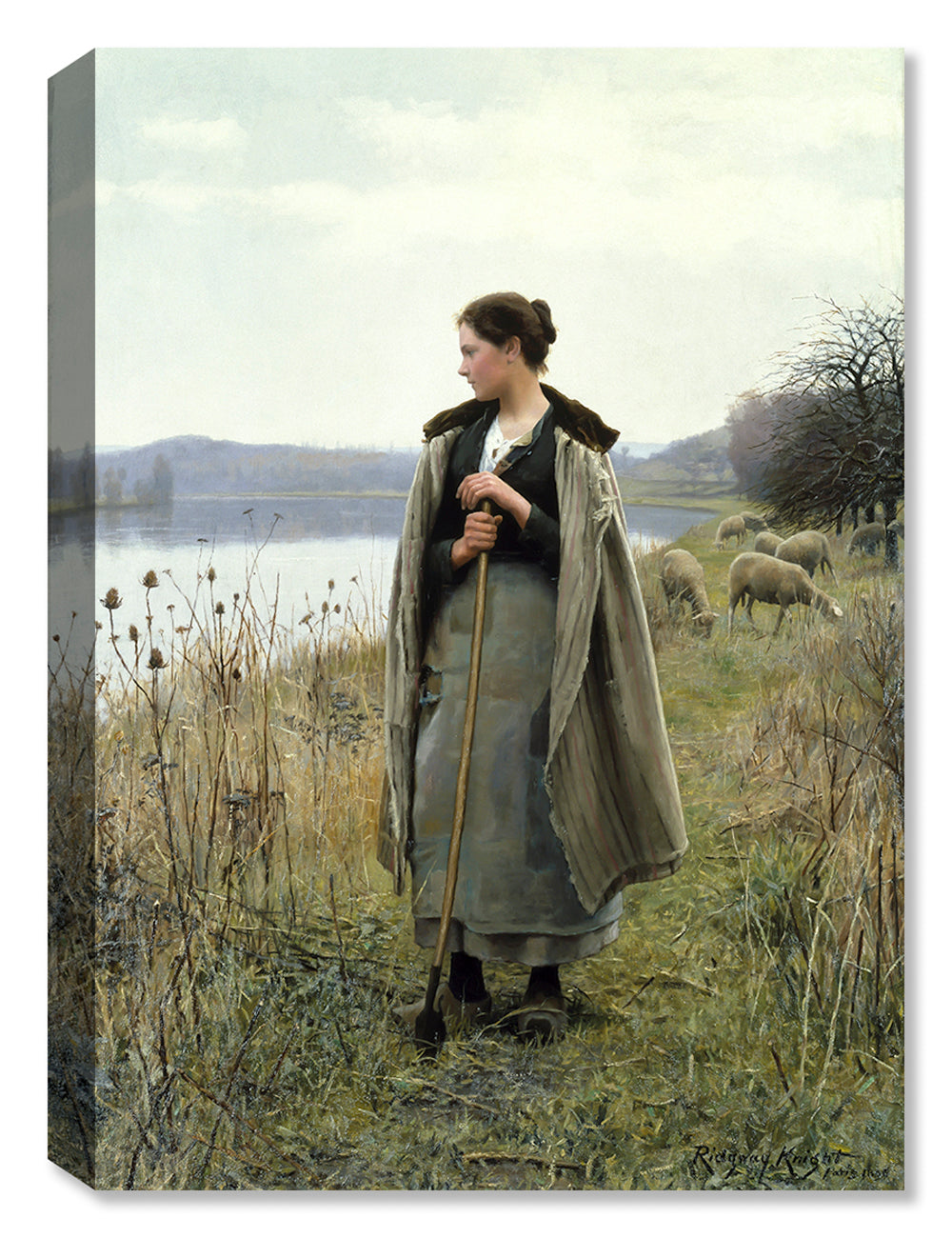 The Shepherdess of Rolleboise - Canvas Art