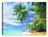 Tropical Beach & Palm Trees  on Ocean #3 - Canvas Art Plus