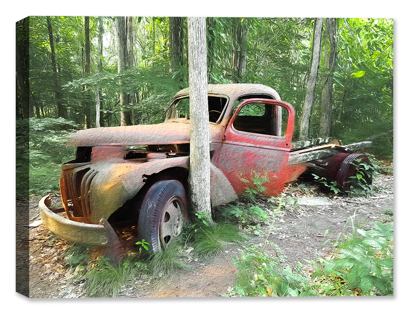 Stuck in the Mud -Truck - Canvas Art