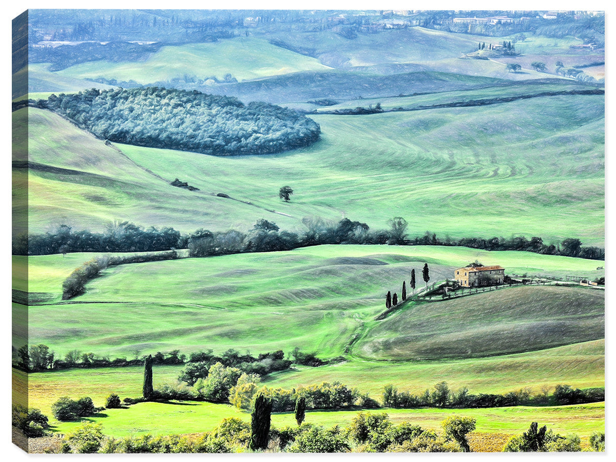 Tuscany Landscape - Canvas Art Print - Canvas Art Plus