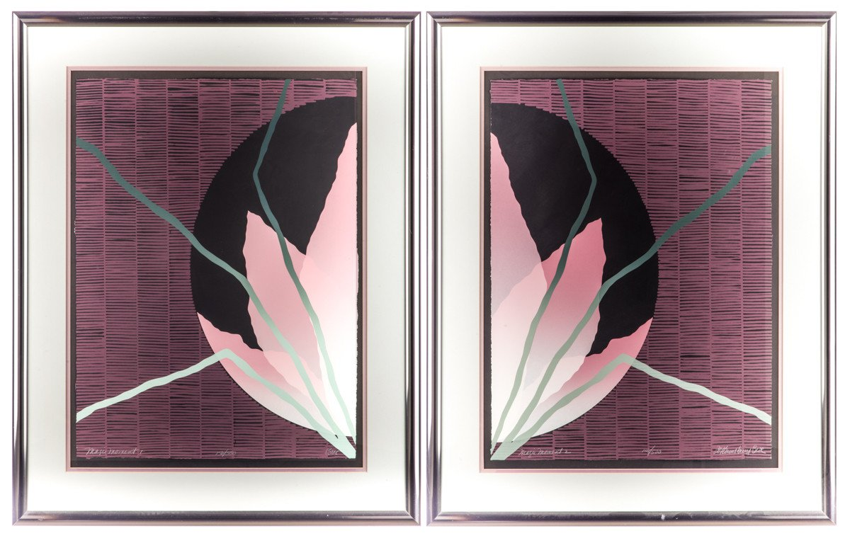Magic Moment - Serigraph by Joy Lounsbury-Bro (Pair of 2) - Framed Art