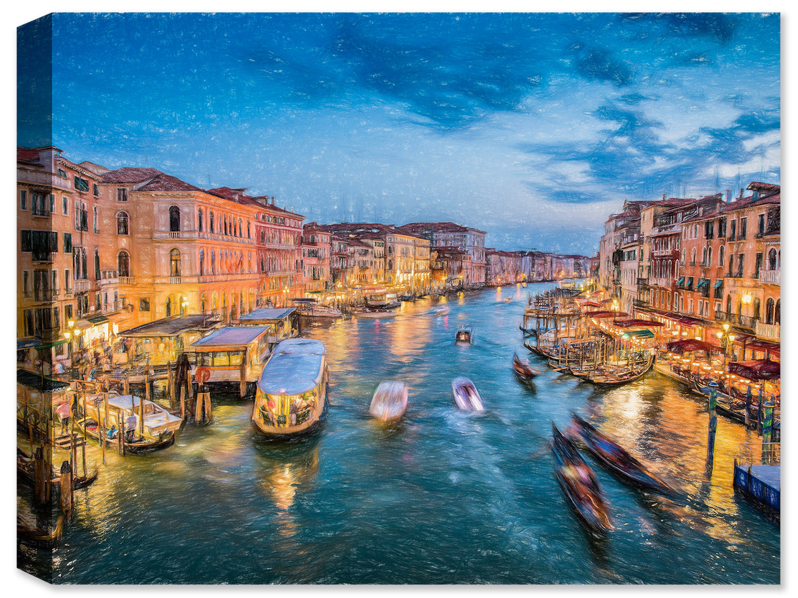 Venice at Dark - Fine Art Canvas Print - Canvas Art Plus