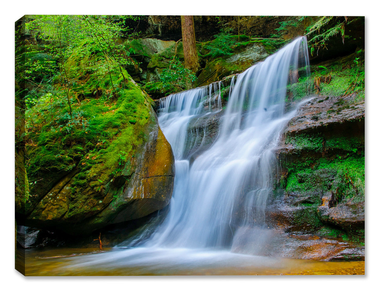 Waterfalls at Hocking Hills - Canvas Art Plus