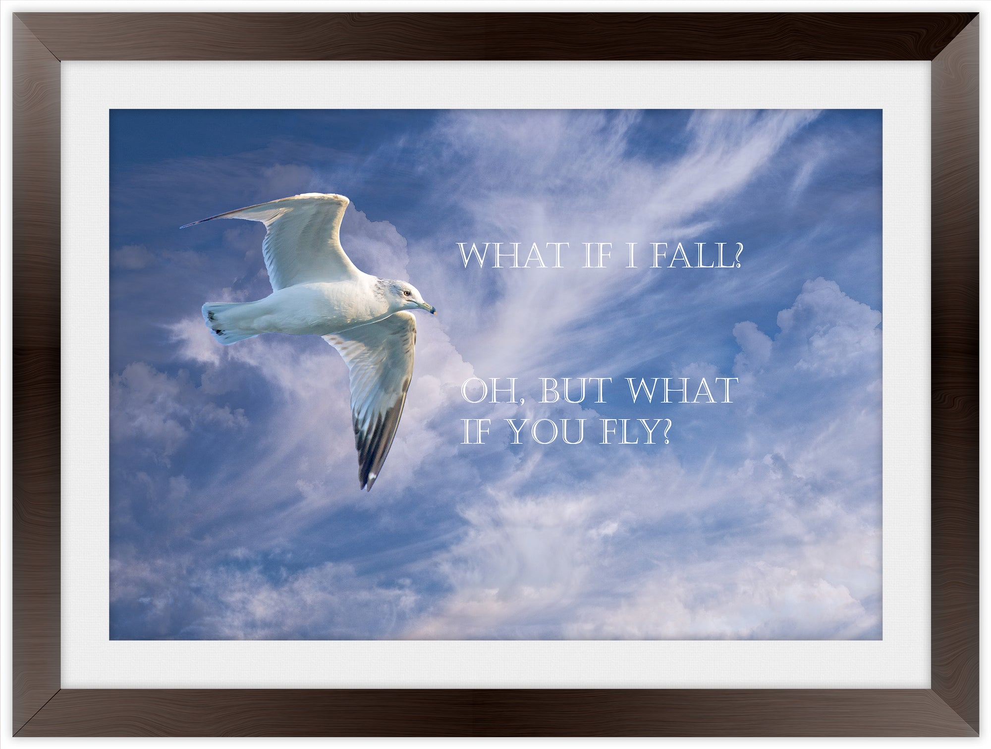 What if I Fall? - Inspirational Frame Art Giclee'