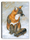 Winter Gray Fox - Canvas Art Plus