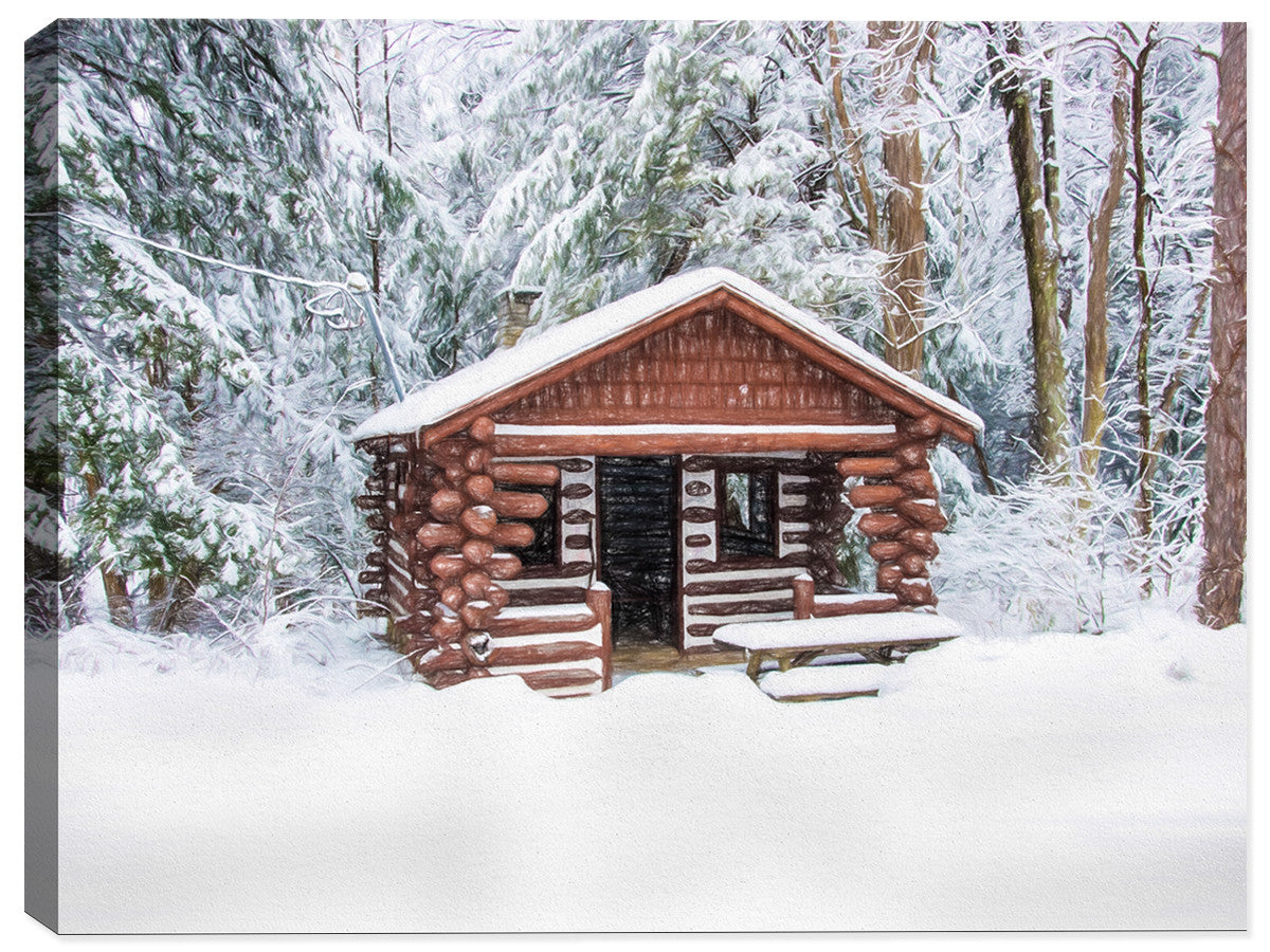 Winter Shelter - Canvas Art Print - Canvas Art Plus