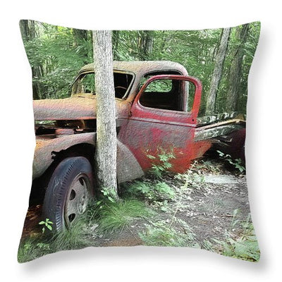 Abandoned - Throw Pillow