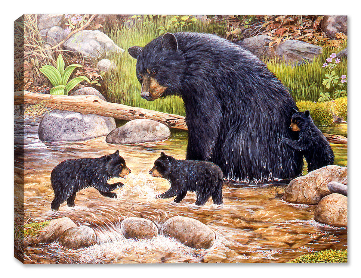 The Bear Creek Gang - Painting by Carol Decker - Canvas Art Plus