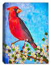 Cardinal on Dogwood Branch - Painting