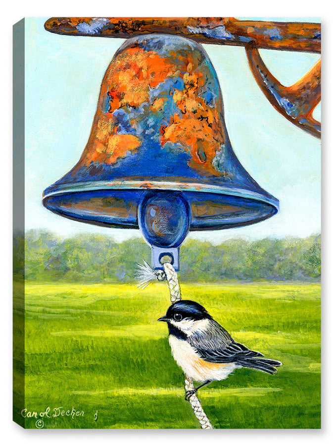 Dinner Bell with Bird - Painting - Canvas Art Plus