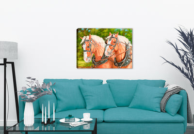 Buck and Babe - Horses by Carol Decker