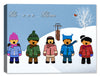 Children Christmas Carolers - Canvas Art Holiday