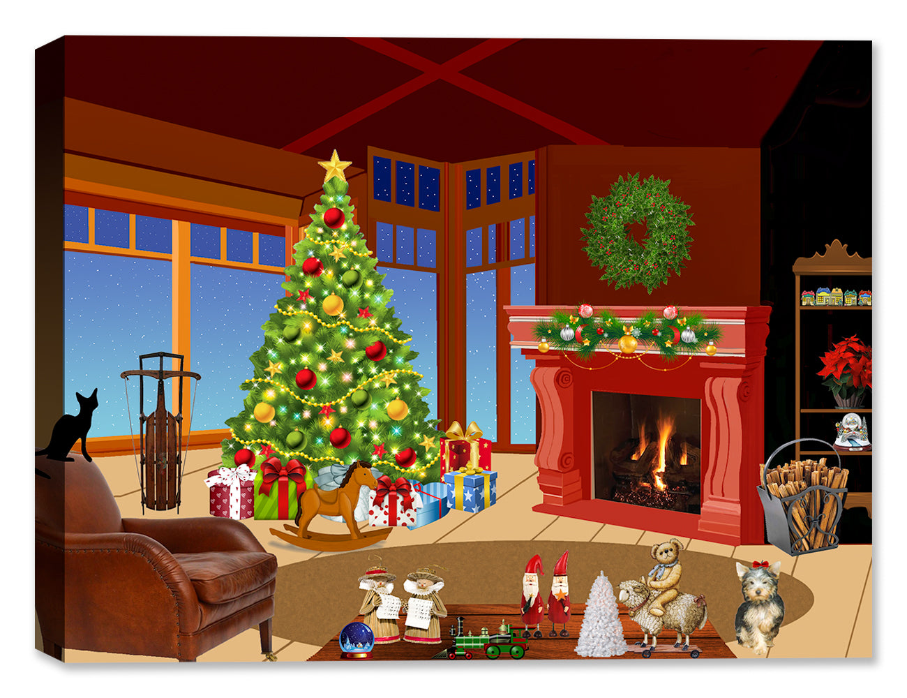 Twas the Night Before Christmas - Holiday Art