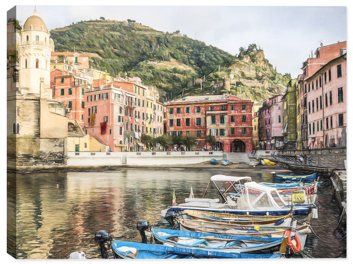 Cinque Terre Italy  - Canvas Art Print - Canvas Art Plus