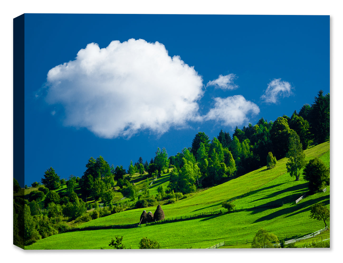 Clouds and Hillside -  Photography on Canvas