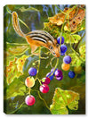 Chipmunk and Grapes - Canvas Art Plus