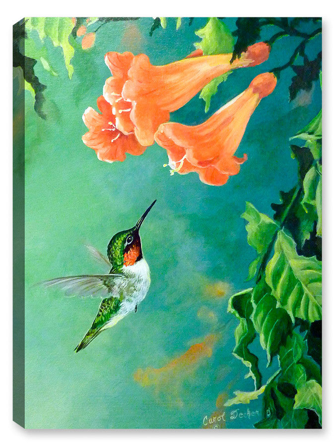 Hummingbird and Trumpet - Canvas Art Plus
