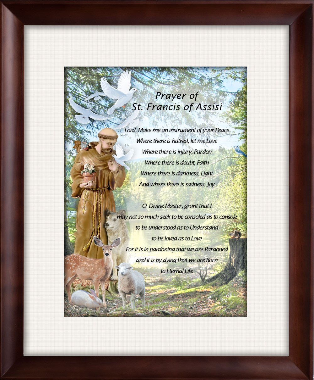 St. Francis Prayer - Framed on Fine Art Paper