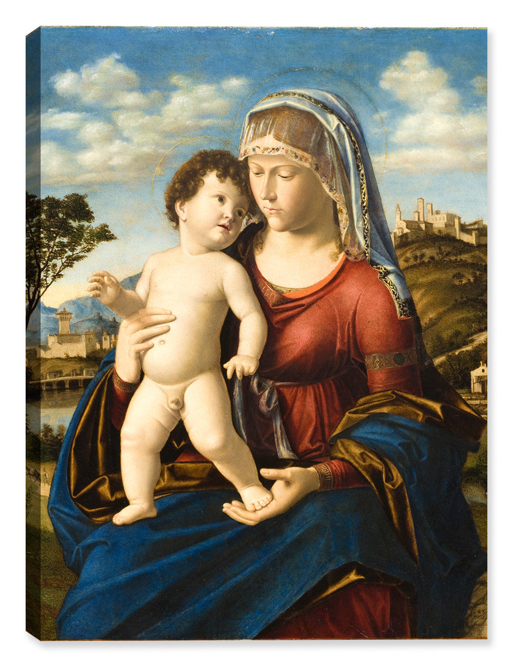 Madonna and Child in a Landscape - Canvas Art Print - Canvas Art Plus
