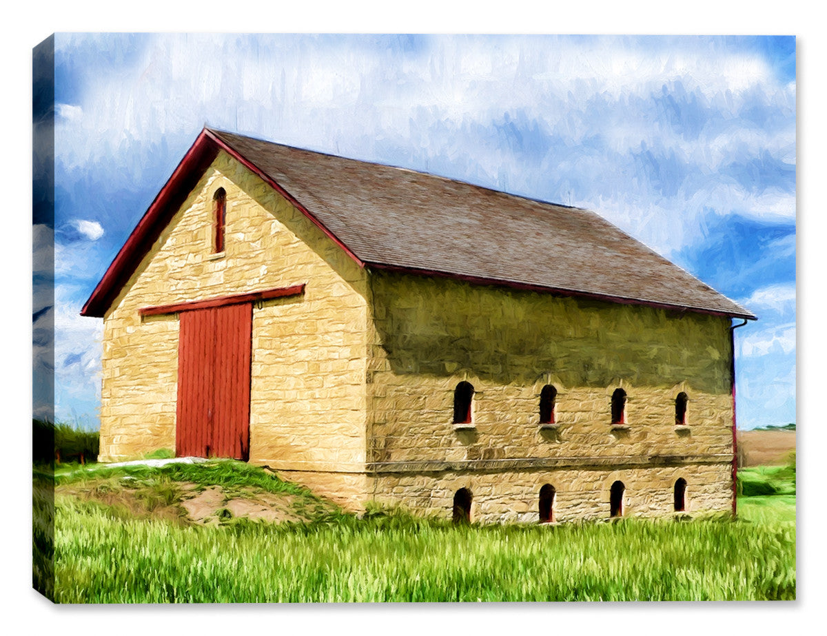 Old Stone Barn - Fine Art Canvas
