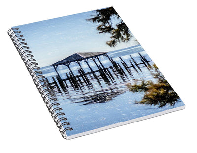 Outer Banks Pier - Spiral Notebook