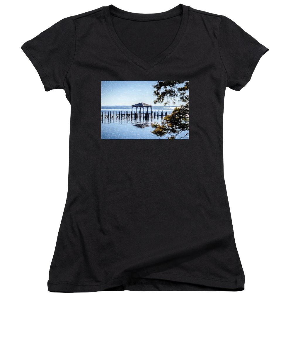 Outer Banks Pier - Women's V-Neck