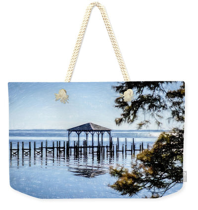 Outer Banks Pier - Weekender Tote Bag