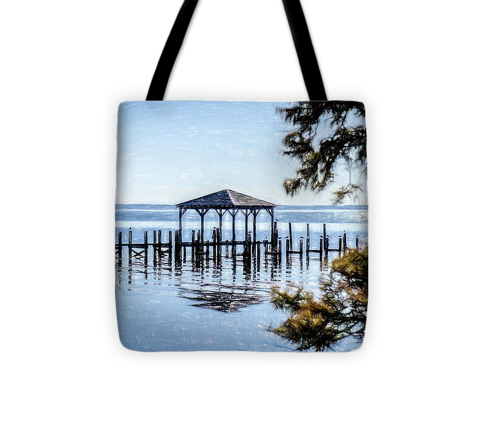Outer Banks Pier - Tote Bag