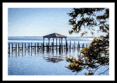 Outer Banks Pier - Framed Print