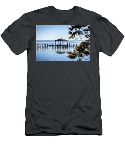 Outer Banks Pier - Men's T-Shirt (Athletic Fit)